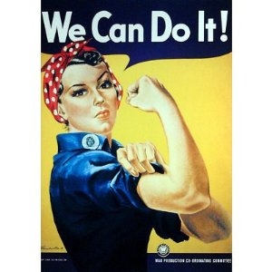 Frequently referred to as Rosie the Riveter