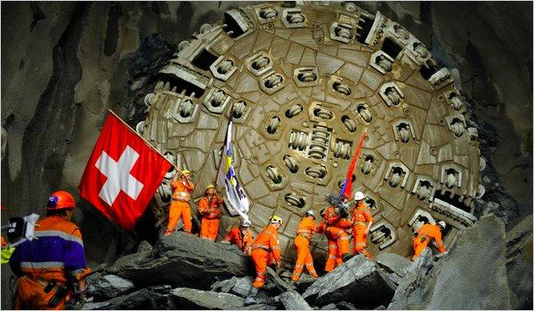 Worlds Longest Tunnel beneath Swiss Alps Reuters